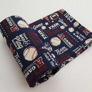 Baseball flannel blanket